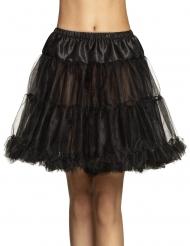 Half lange zwarte tutu voor dames