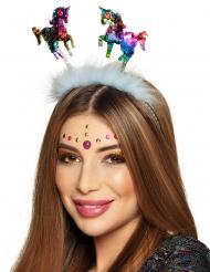 Veelkleurige lovertjes eenhoorn haarband voor volwassenen