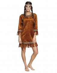 Imitatie suède indiaan kostuum voor vrouwen