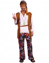 Klassiek hippie kostuum voor mannen - Grote Maten