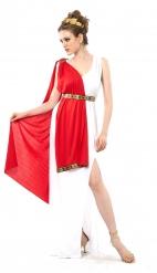 Romeinse godin kostuum met sleep voor dames - Plus Size