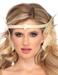 Goudkleurige zeemeermin oren hoofdband voor volwassenen