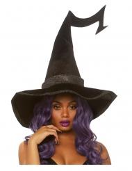 Luxe fluweelachtige heksenhoed voor volwassenen