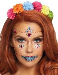 Dia de los Muertos gezichtsjuweel voor volwassenen