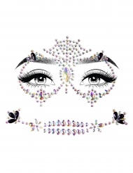 Veelkleurige zelfklevende gezichtsjuwelen
