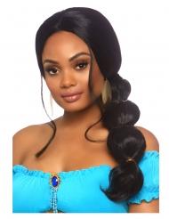 Luxe lange zwarte Oosterse prinses pruik voor vrouwen