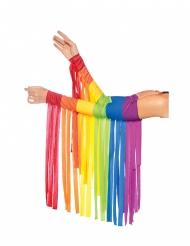 Regenboog armstukken met franjes voor volwassenen