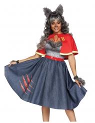 Sexy luxe weerwolf student kostuum voor vrouwen