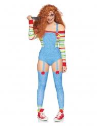 Luxe killer pop kostuum voor vrouwen