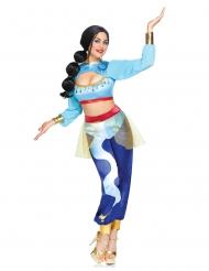 Luxe blauwe geest uit de lamp kostuum voor vrouwen