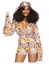 Luxe sexy hippie boogie kostuum voor vrouwen