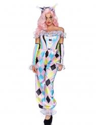 Luxe mooie clown kostuum voor vrouwen