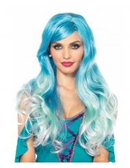 Luxe blauwe zeemeermin pruik voor vrouwen