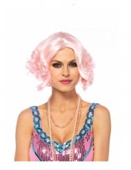 Luxe korte roze pruik voor dames