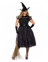 Luxe heksen kostuum voor dames - plus size