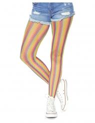 Netstof regenboog panty voor vrouwen