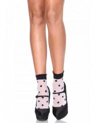 Korte sokken met stippen voor vrouwen