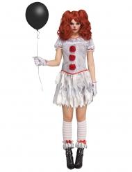 Helse clown kostuum voor vrouwen