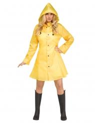 Gele regenjas kostuum voor vrouwen