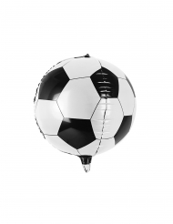 Zwarte en witte aluminium voetbal ballon
