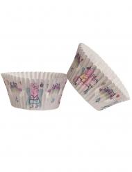 25 papieren Peppa Pig™ cupcakevormen