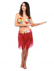 Korte rode Hawaiiaanse rok voor volwassenen