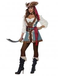 Luxe gilet piraat kostuum voor vrouwen