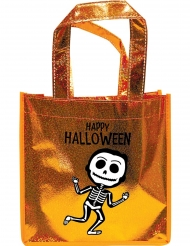 Oranje glitter skelet tas