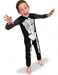 Klassiek zwart en wit skelet pak voor kinderen