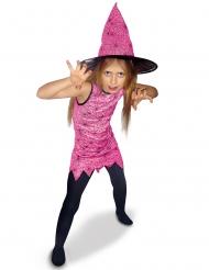 Roze heks kostuum voor meisjes