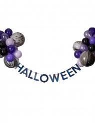 Halloween slinger set met zwarte en paarse ballonnen