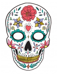 Wit kartonnen Dia de los Muertos masker