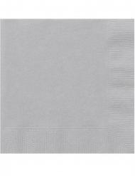 20 zilverkleurige kleine papieren servetten