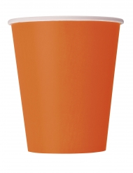 14 effen oranje kartonnen bekers