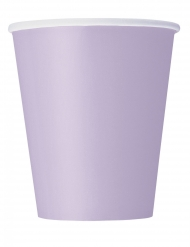 14 kartonnen lavendel kleurige bekers