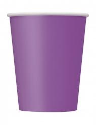 8 paarse papieren kartonnen bekers
