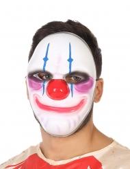 Enge lachende clown masker voor volwassenen