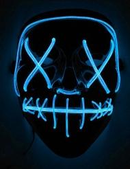 Blauw lichtgevend led masker voor volwassenen
