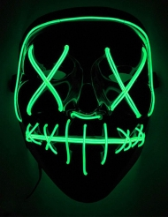 Groen lichtgevend led masker voor volwassenen