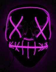 Fuchsia lichtgevend led masker voor volwassenen