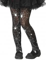 Zwarte en witte spinnen panty voor kinderen