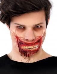 Bloederige neppe zombie mond wond