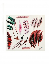 Bloederige klauwen en wonden nep tatoeages