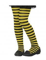Zwart en geel gestreepte panty voor kinderen
