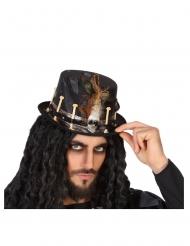 Zwarte voodoo hoed voor volwassenen