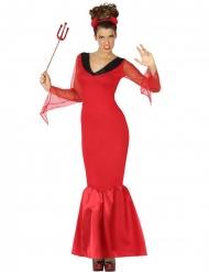 Lange duivelse koningin outfit voor dames