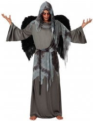 Zwart en grijs dodenengel kostuum voor mannen