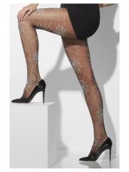 Zwarte spinnenweb panty voor vrouwen