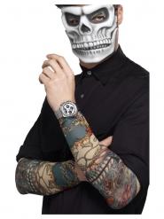 2 Dia de los Muertos tattoo mouwen