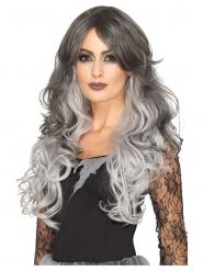 Luxe grijze lange pruik voor dames